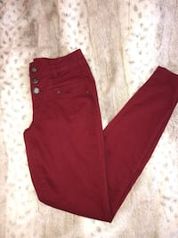 Red High Waisted Skinny Jeans -Size 3 Holland, 18966