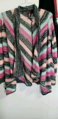 white, pink, and black cardigan Bellevue, 83313
