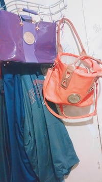 Michael kors purse purple and orange