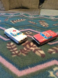 2 antique tin friction cars Hedgesville