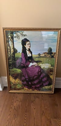 Hungarian painting. The lady in the purple dress. It is not an original painting otherwise I wouldn't be selling it. Ajax, L1T 3W6