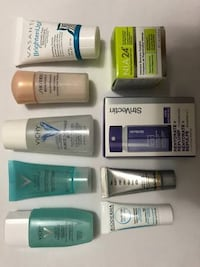 Pack of 9 skincare products