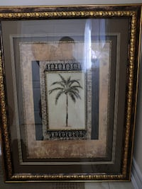 coconut palm tree painting