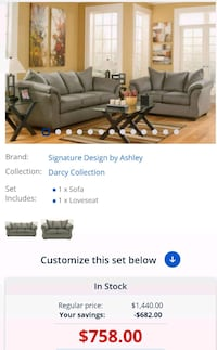 black leather sofa set screenshot Ashburn, 20147
