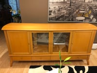 "Brown wooden cabinet with mirror 72""x16.5""x34"" Toronto, M2R 3J8"