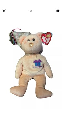 OCTOBER BIRTHDAY BEAR- TY BEANIE BABY -  BIRTHSTONE NOSE:  OPAL Albuquerque, 87121