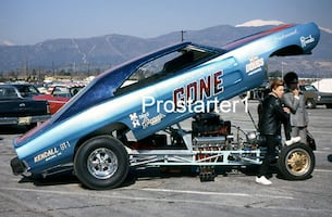 4x6 Color Drag Racing Photo Roger Lindamood COLOR ME GONE 1969 Charger Funny Car