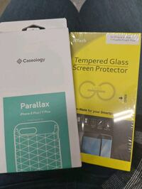 Tempered glass and phone case