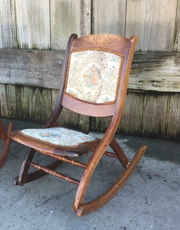 Awe Inspiring Beautiful Antique Victorian Folding Rocking Char Pdpeps Interior Chair Design Pdpepsorg