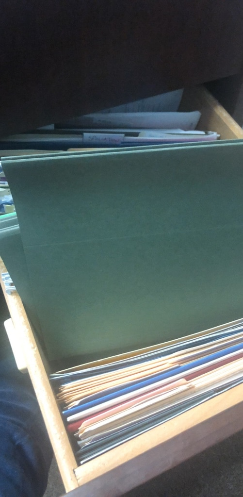 Photo Hanging folders & another office supplies (Manila folders, staplers)