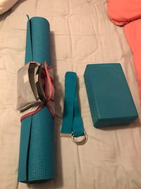 Yoga mat, belt and brick with carrying strap Columbus, 43227