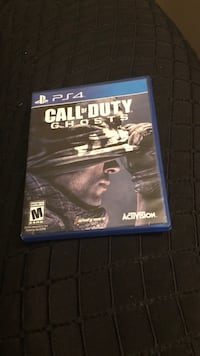 Call of Duty Ghosts PS4 game case Saskatoon, S7H 4Z6