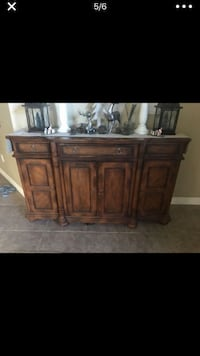 Brown wooden cabinet with drawer Chandler, 85249