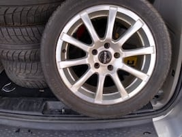 4 Pirelli  Supersport All Season Tires 245/45/17 w/RONAL Aluminum Rims w/Covers.   Set of 4 Like New  5 BOLT PATTERN  5 X 120.65 or 5 X 4.75  Set of 4 Like New Tires, 99% Tread.   99% Tread, literally used for 2 weeks but ended up getting rid of the car.