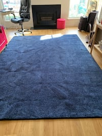 Large blue carpet for sale. Used only for a month and folded away