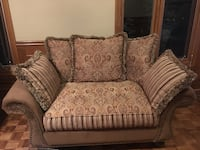 brown and gray floral fabric sofa chair Vaughan, L4L 1S2