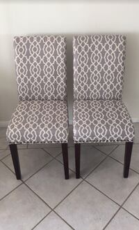 Stylish Pair of Grey and Cream Chairs  Los Angeles, 90012