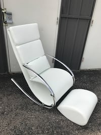 Adorable Accent rocking chair and ottoman  304 mi