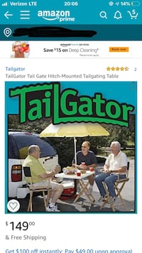 TailGator Tow Hitch Table