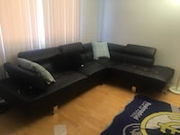 Black leather sectional Glendale, 91205