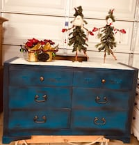 blue and brown wooden dresser Paso Robles, 93446
