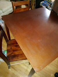 rectangular brown wooden table with four chairs dining set Centreville, 20120