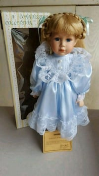 Porcelain doll in blue dress Saint Paul, 55105