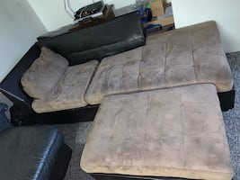 Couch with ottoman
