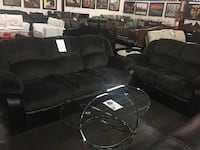 Microfiber Reclining Sofa and Love Seat. Brand new. Plano