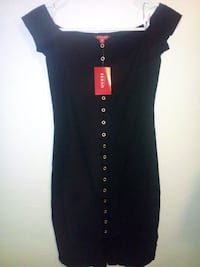 black button-up off the shoulder sleeveless dress 1963 km