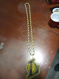 Beaded Lakers Necklace