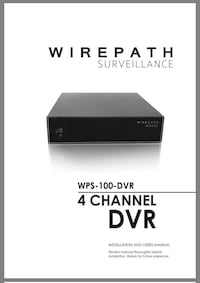 black Wirepath Surveillance 4-channel DVR Canton, 30114
