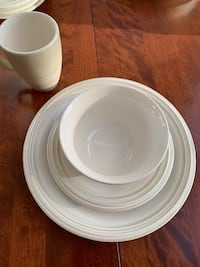 Four 4 pc place settings of cappuccino by pfaltzgraff.  Each set is 16 pcs Arlington, 22201