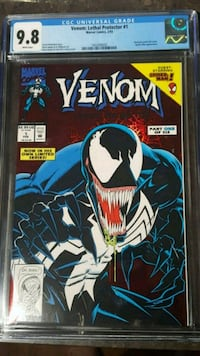 #1 Venom GCG graded 9.8 MARVEL comic book Toronto, M3C 4E5