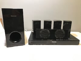 AS-IS PANASONIC HOME THEATER SYSTEM (NO CABLES/NO REMOTE) - FJN