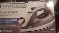 gray and black Black & Decker clothes flat iron box