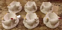 SET OF 6 CHARMING CERAMIC EGG CUPS