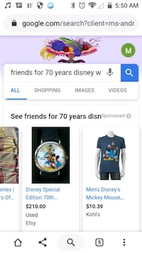 Freinds for 70 years watch with goofy , Mickey mouse, Donald duck  Lexington, 40508