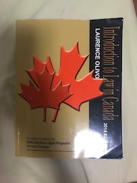 Introduction to law in canada book