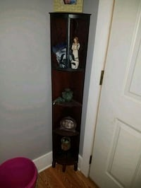 brown wooden hall tree cabinet Duson, 70529