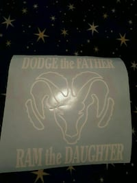 Dodge The father Ram The daughter decals