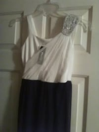 white and black sleeveless dress Pleasant Hill, 71065