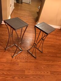 2 gray end tables  Charlotte, 28273