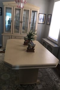 Dining Room table china cabinet & wall unit w Sony  tv New York, 11378