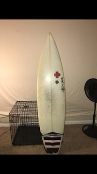 white and black surf board