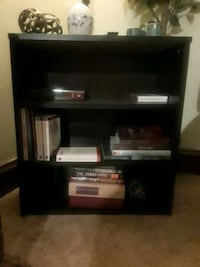 black wooden TV stand with flat screen television Akron, 44301