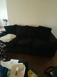 Black couch plus chair and ottoman  Muncie