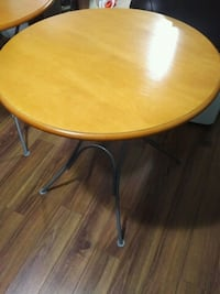 $50 for each foldable round brown wooden table  Toronto, M9W 2A3