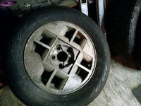 chrome 5-spoke car wheel with tire Rochester, 14606