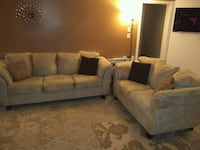 Large sofa, love seat and chair set $1000 536 km